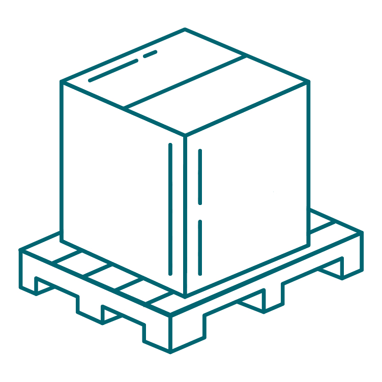 box on pallet icon