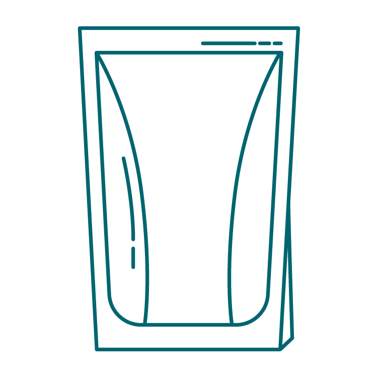 pouch packaging icon