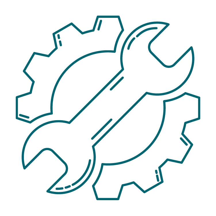 gear and wrench services icon